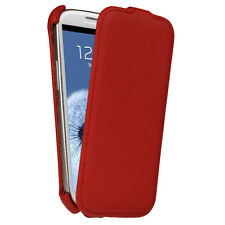 Rouge Étui Housse Cuir PU pour Samsung Galaxy S3 III i9300 Android Smartphone