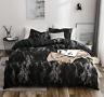 Beauty Safe Black Bedding Set Duvet Cover Comforter Cover Pillow Case Haihk