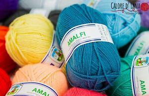 LANA SOTTILE Cervinia AMALFI per maglia e uncinetto, 50 gr 100% fibra ACRILICA