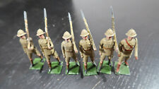 g Britains Toy Soldiers Lead British Army in Khaki Safari Uniforms Pith Helmets
