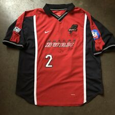 Vintage 90's Nike FC Dallas Burn Game Match Worn Used Team Autographed Jersey XL