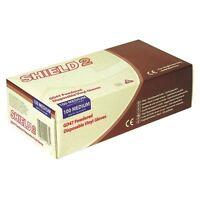 Shield Powdered Clear Medium Vinyl Gloves (Pack of 100) GD47 [HEA00488]