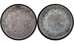 20 Kurus 1876  Ottoman Empire (Turkey) 🇹🇷 Silver Coin Abdülhamid II # 722