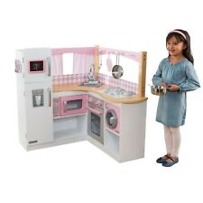 Grand Gourmet Corner Play Kitchen with 4-Piece Accessory Set by KidKraft