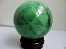 Glow In The Dark Stone crystal Fluorite sphere ball 64mm + stand