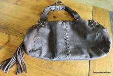 AWESOME Kenneth Cole Reaction SOFT Brown Leather Handbag Purse w/ Tassel
