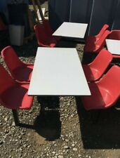 More details for 4 seater fast food cafe tables canteen seating pubs