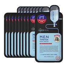 MEDIHEAL MEN Timetox Balck Mask EX Beauty Pack Korea Skin Care Cosmetic 10pcs