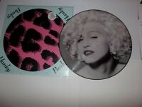 MADONNA PICTURE DISC SINGLE HANKY PANKY & POSTER STICKER SLEEVE W9784TP