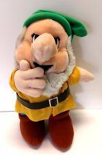 Vintage Disney Bashful Dwarf Snow White Plush Stuffed Toy Rubber Band Enterprise