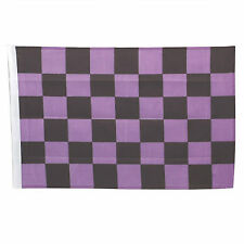 SMF Small 12 Inch X 20 Inch Replacement Purple And Black Checkered Flag For Whip