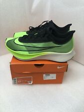 NIKE ZOOM FLY 3 Electric Green/Black Running Shoes AT8240-300 Men's 10.5