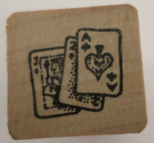 Too Much Fun Gambeling Ace Of Spades Cards Wooden Rubber Stamp