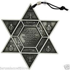 Star David Home Blessing Pewter Wall Hanging Gift Judaica Jerusalem Hamsa Menora