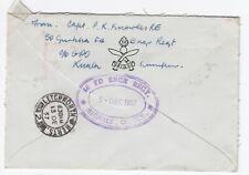 1957 50 Gurkha Field Sqn Kuala Lumper Cover Letchworth Herts Postal History