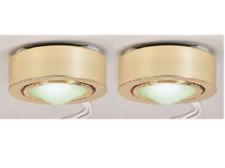 2 Pcs Mini Under Cabinet Low Voltage Halogen Lights Gold - Nora Lighting NM-253G