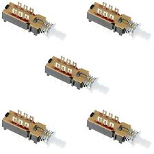 5 x DPDT Changeover Push Button Latching PCB Switch
