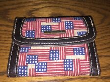 Longaberger Old Glory~ American Flag Pattern~ Small Wallet /Card Holder