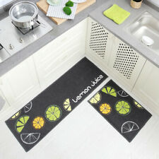 2 Pcs/Set Non-sliding Floor Mat Rug Door Mats Soft Carpet Tartan Kitchen Bedroom