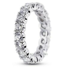 1.10ct tw F-VS2 Ex Round Natural Diamonds 14k Gold Classic Eternity Band 3.6gram