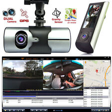 "2.7"" Vehicle 1080P Car DVR Camera Video Recorder Dash Cam Dual Lens G-Sensor GPS"