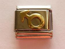 CLASSIC ITALIAN CHARM BOY MALE SIGN  fits all design 9mm bracelet link AF15