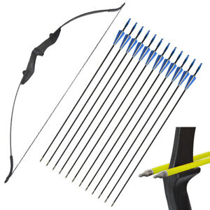 """57"""" Archery Recurve Bow Right Left Hand Takedown Longbow 30-40lbs Target Hunting"""