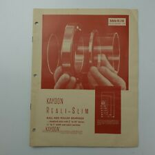 Kaydon Reali Slim Ball Amp Roller Bearings Bulletin 1968 Magazine Manual