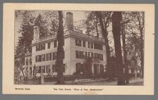 """[52735] OLD POSTCARD THE TEEL HOUSE """"SIGN OF GEN. WASHINGTON"""" IN NORWICH, CONN."""