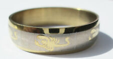 Gold Scorpion Stainless Steel Ring - Size 10.5  (20.2mm)