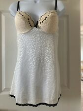 PASSION FOREVER Negligee  Ivory Lace Look NEW Size Large
