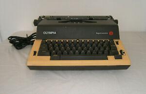 VINTAGE OLYMPIA WERKE AG REPORT ELECTRIC TYPEWRITER BROWN /GOLD FOR PARTS REPAIR