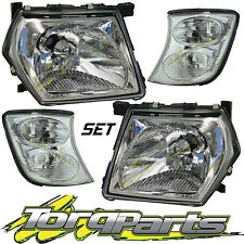 SET OF HEADLIGHTS & CORNER LIGHTS SUIT GU PATROL NISSAN 97-07 SERIES 3 INDICATOR