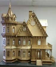 Leon Gothic Victorian Mansion Dollhouse 1:12