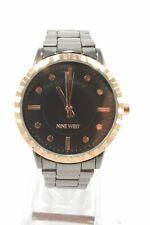 Nine West NW2313GYRT Black Dial Gunmetal Bracelet Ladies Watch