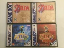 Zelda Oracle Of Ages, Seasons, Links Awakening, + DX- Game Boy Color GB Cases