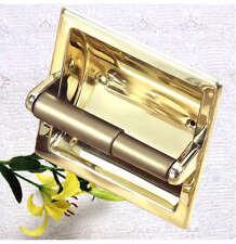 Bathroom Polish Solid Brass Toilet Roll Paper Holder