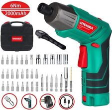 "HYCHIKA Cordless Drill Electric Screwdriver 6Nm Wireless Power Driver 1/4"" 2.0Ah"