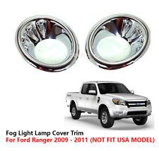 CHROME FOG LIGHT COVER TRIM FOR FORD RANGER PICKUP 2009 2010 2011