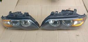 2004 2005 2006 BMW X5 Headlight Headlamp  Set Pair HID Xenon AFS ADAPTIVE OEM