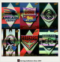 2000 Select AFL Millenium Trading Cards Holofoil Club Logo Cards Full Set (16)