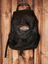 Harley Davidson Black Padded Backpack - Helmet Bag & Laptop Full Size Pockets