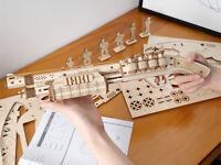 ROKR Wooden Model Buidling Kits Shotgun 3D Puzzle Terminator M870 Toy GIft Teens