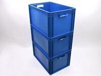 WOW! 3 x Stapel- Eurobox 600 x 400 x 320 E3 Lager- Kunststoffkiste Eurobehälter