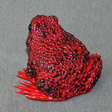 Bronze Frog Figurine Statue Amphibian Art Sculpture Wildlife Frogs Nature Signed