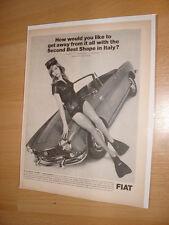 1966 Fiat 1500 Spider - Vintage Advertisement Magazine Ad FREE SHIPPING