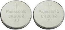 2 x Panasonic CR2032 2032 Coin Cell 3V BATTERIE AL LITIO per i giocattoli, CHIAVI AUTO ECC.