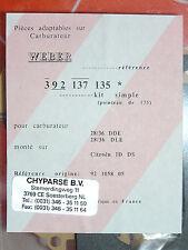 KIT carburateur citroen id et ds 28/36 DDE -28/36 DLE