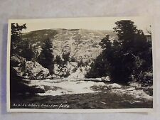 RPPC Rapids above Boulder Falls Colorado. CO. Real AZO Photo B&W Postcard PC