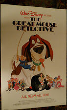 """The Great Mouse Detective (1986) Disney 1 sheet movie poster 27""""x41"""" folded"""